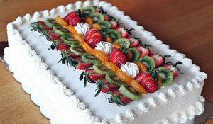 Posna plazma torta sa voćem